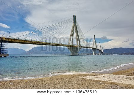 The cable bridge between Rio and Antirrio, Patra, Western Greece