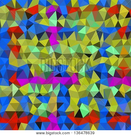 Abstract multicolor (gold, blue, red) low-poly vector background
