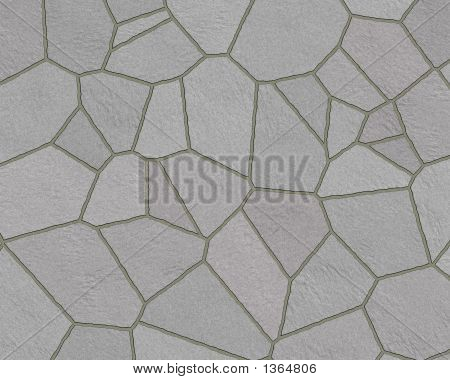 Stone Wall Pattern Slate Walkway