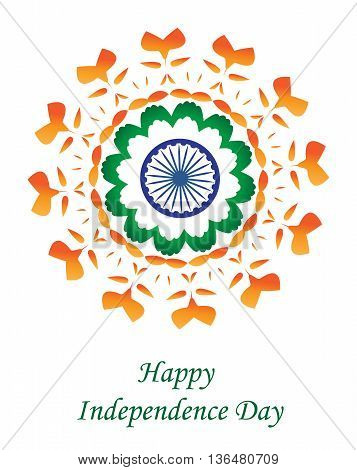Happy India Independence Day. Independence Day greeting card India. Vector illustration