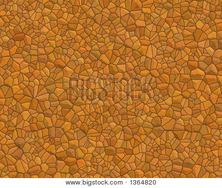Stone Wall Pattern Small Orange