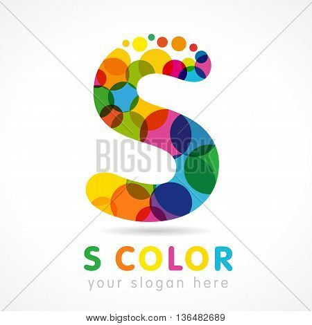 Colored S logo. Letter