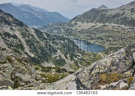 Amazing Panorama to Valyavishki lakes  from Dzhangal Peak, Pirin mountain, Bulgaria