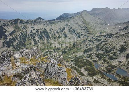 Amazing Panorama of Samodivski Lakes from Dzhangal Peak, Pirin Mountain, Bulgaria