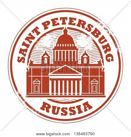 Grunge rubber stamp with words Saint Petersburg, Russia inside, vector illustration