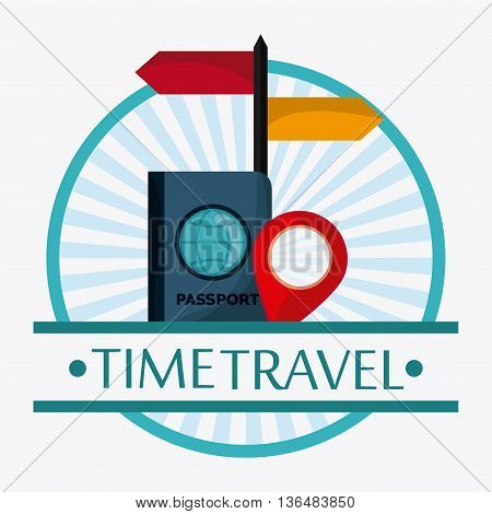 Time to travel concept represented by Trip icon set. Isolated and Colorfull Illustration