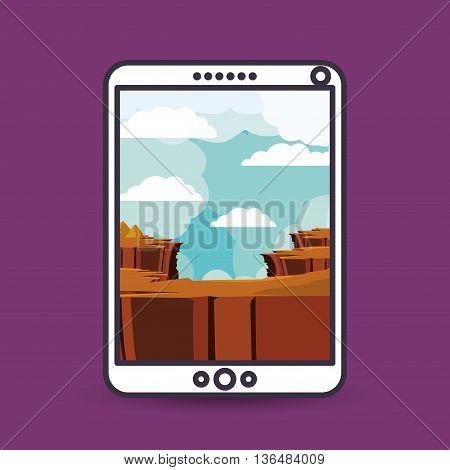 landscape for wallpaper smartphone design, vector illustration eps10 graphic