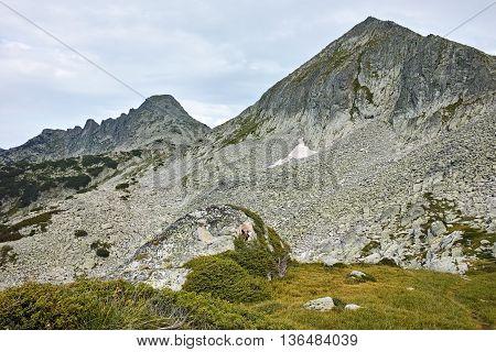 Panorama of Dzhangal and momin dvor peaks, Pirin Mountain, Bulgaria