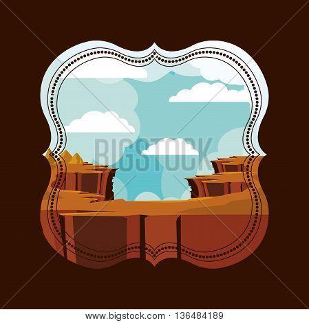 beautiful landscape frame design, vector illustration eps10 graphic