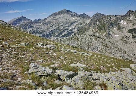 Kamenitsa and Yalovarnika peaks- view from Dzhano Peak,  Pirin mountain, Bulgaria