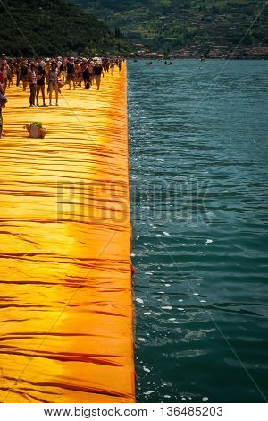 Floating Piers Longest Walkway Edge