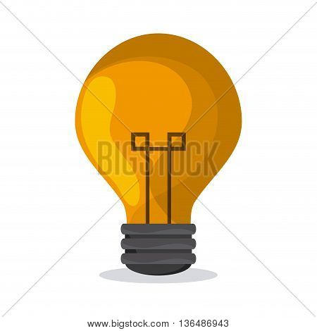 Energy concept represented by bulb  over white background. Colorfull Ilustration