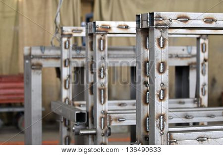 various elements of steel structures for further assembly