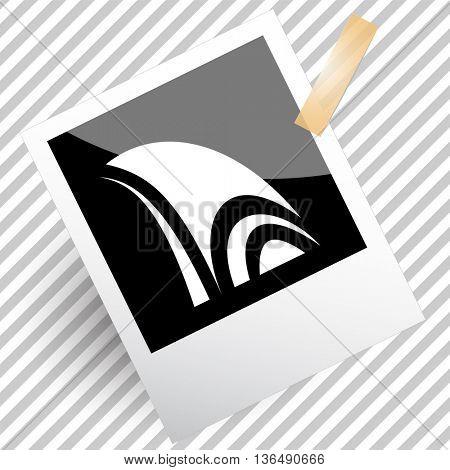 unique abstract forms. Photoframe. Vector icon.