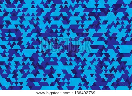 Abstract background of the triangles. The gradation of blue. Blue hues.