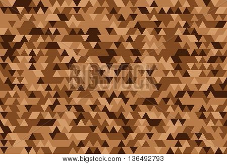 Abstract background of the triangles. The gradation of brown. Brown hues.