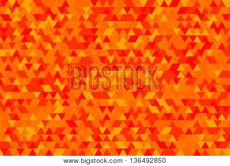 Abstract background of the triangles. The gradation of orange. Orange hues.