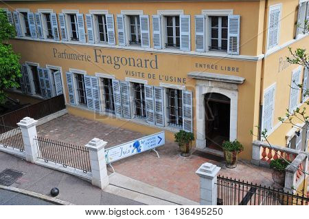 Grasse France - april 17 2016 : the historical Fragonard perfumery