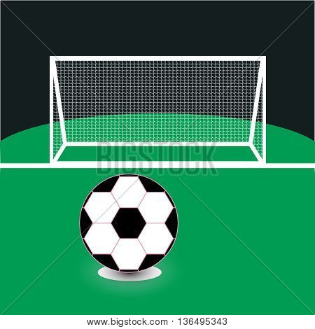 Vector Soccer ball on the green field,game, glory, goal, grass, green, ground,