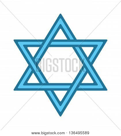 Shalom hebrew blue jew star of david card vector. Jew star symbol judaism religion israel. Religious icon jew star hanukkah spirituality blue traditional hexagram. Biblical jerusalem culture emblem.