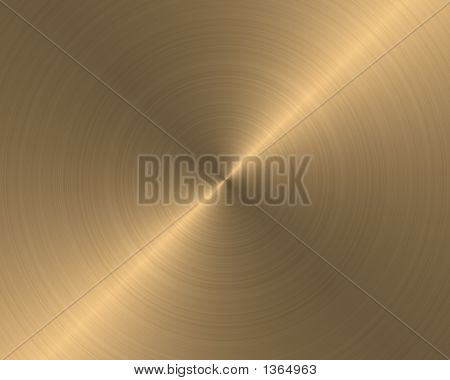 Brushed Metal Texture Background Gold Circular