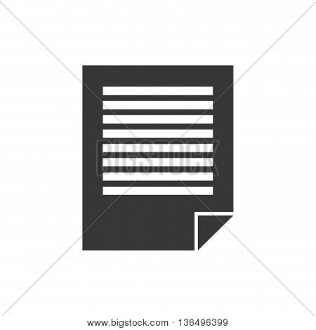 Document concept represented by piece of paper icon. isolated and flat illustration