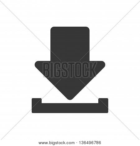 Social media concept represented by download icon. isolated and flat illustration