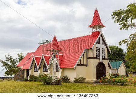Chapel Notre Dame Auxiliatrice At Cap Malheureux Mauritius