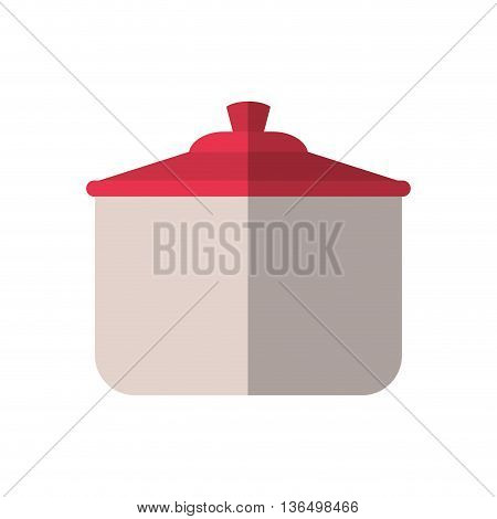 Kitchen and Cooking concept represented by saucepan icon. isolated and flat illustration