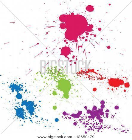 Creative set of inkblot silhouettes. vector