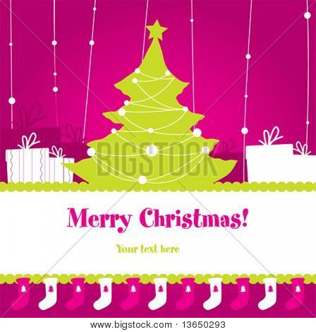 Cute christmas design. vector