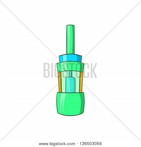 Electronic cigarette atomizer icon in cartoon style on a white background