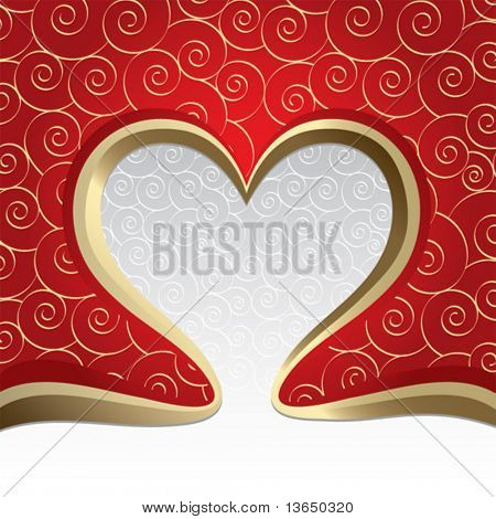 The Valentine's day. vector