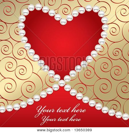Beautiful valentine card. vector. see more in my gallery.