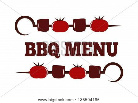 Barbecue logo and grill labels set, badge and emblem. BBQ logo vector template isolated on white background. Steak house restaurant menu BBQ logo design element. Food logo design.