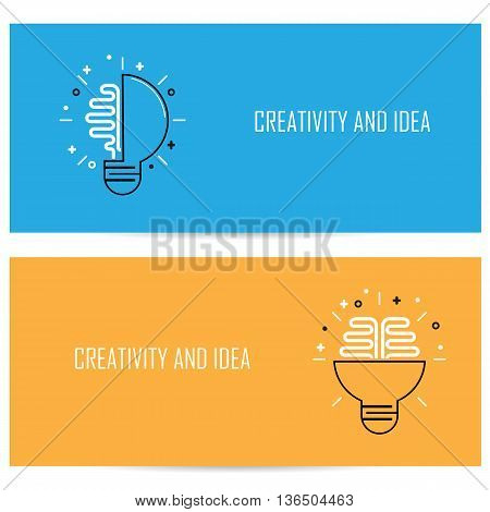 Creative Brain Idea Concept Background.Design for Poster Flyer Cover Brochureabstract background.Business Idea and Education concept.Vector illustration