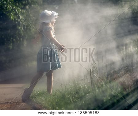 The Girl In The Mist. The Lights Of A Sun