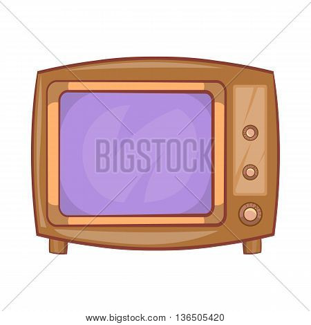 Retro tv icon in cartoon style on a white background
