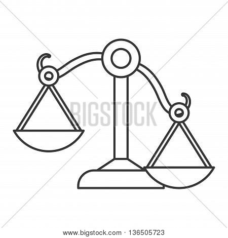 Law and Justice concept represented by Balance icon. isolated and flat illustration