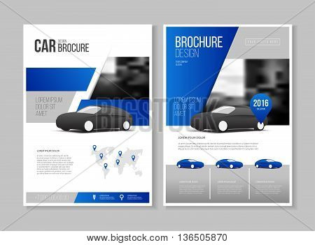 Car Brochure. Auto Leaflet Brochure Flyer Template A4 Size Design, Car Repair Business Catalogue Cov