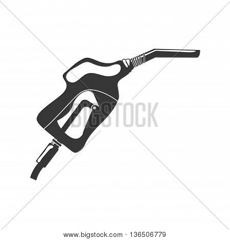 Oil industry concept represented by dispenser icon. isolated and flat illustration