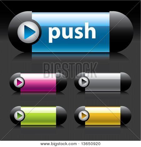 Original Buttons for web design. Vector.