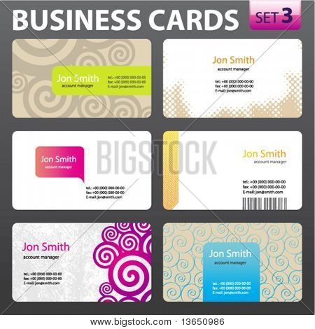 Business card design. Vector.