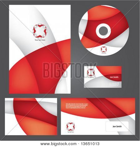 Business style templates. Vector.
