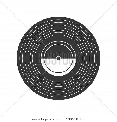 Retro and vintage technology concept represented by vinyl icon. isolated and flat illustration
