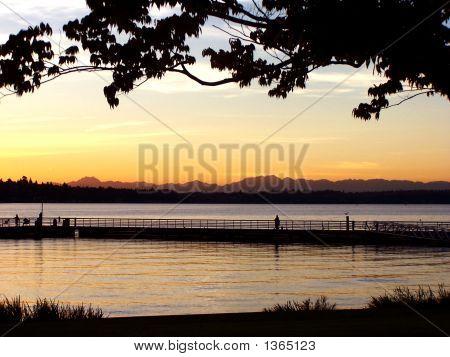 Sunset Over L Washington