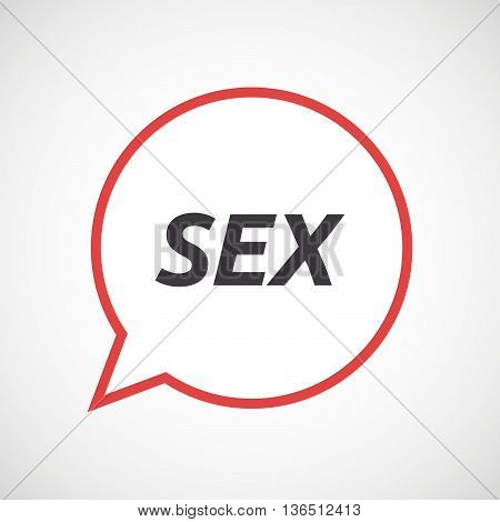 Isolated Comic Balloon Icon With    The Text Sex