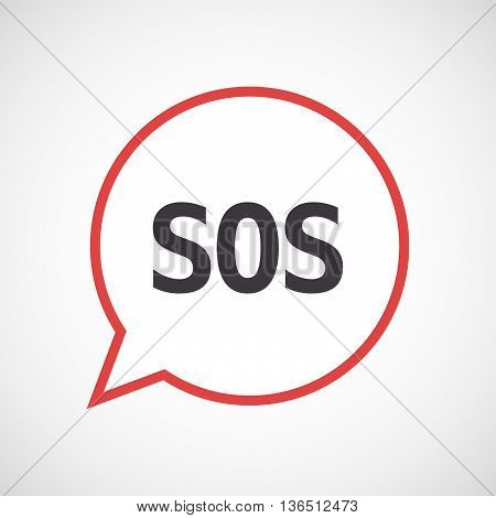 Isolated Comic Balloon Icon With    The Text Sos