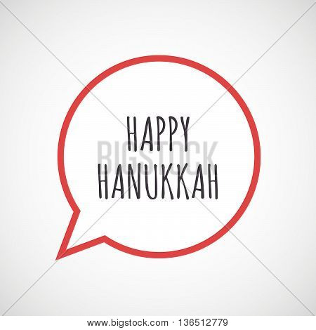 Isolated Comic Balloon Icon With    The Text Happy Hanukkah