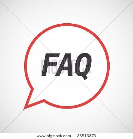 Isolated Comic Balloon Icon With    The Text Faq